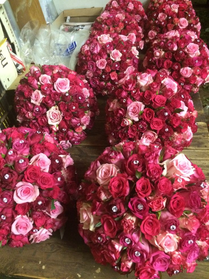 Rose balls for bling cerice wedding
