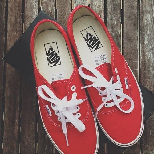 Red vans! I just got some likes this! Just a little less red but more of a maroon