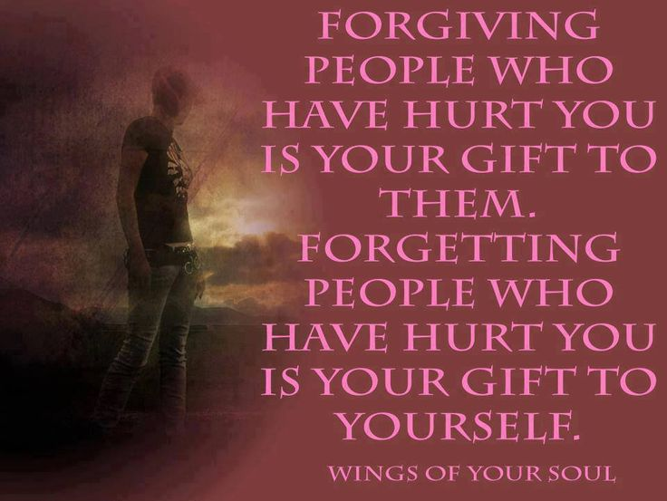 what is the relationship between forgiving and forgetting