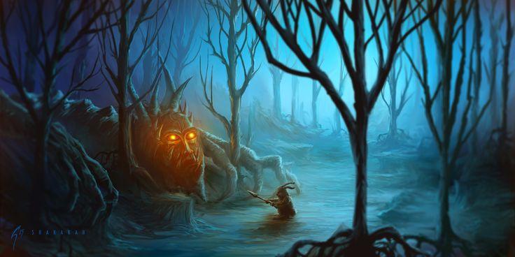 Personal Project: Shakakah and the Grumpy Grunny #art #artistic #artist #illustrator #illustration #illustrative #fantasyart #fantasy #imagination #draw #drawing #digitalart #digitalpainting #painting #sketch #fun #dragon #forest #conceptual #conceptart #concept #trees #cgart #environment