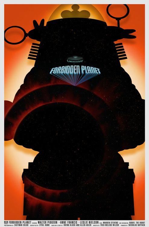 Forbidden Planet: Movie Posters, Planets, Fan Art, Forbiddenplanetbg Jpg 527 800, Inspiration, Movies Posters, William Budge, Movie Art