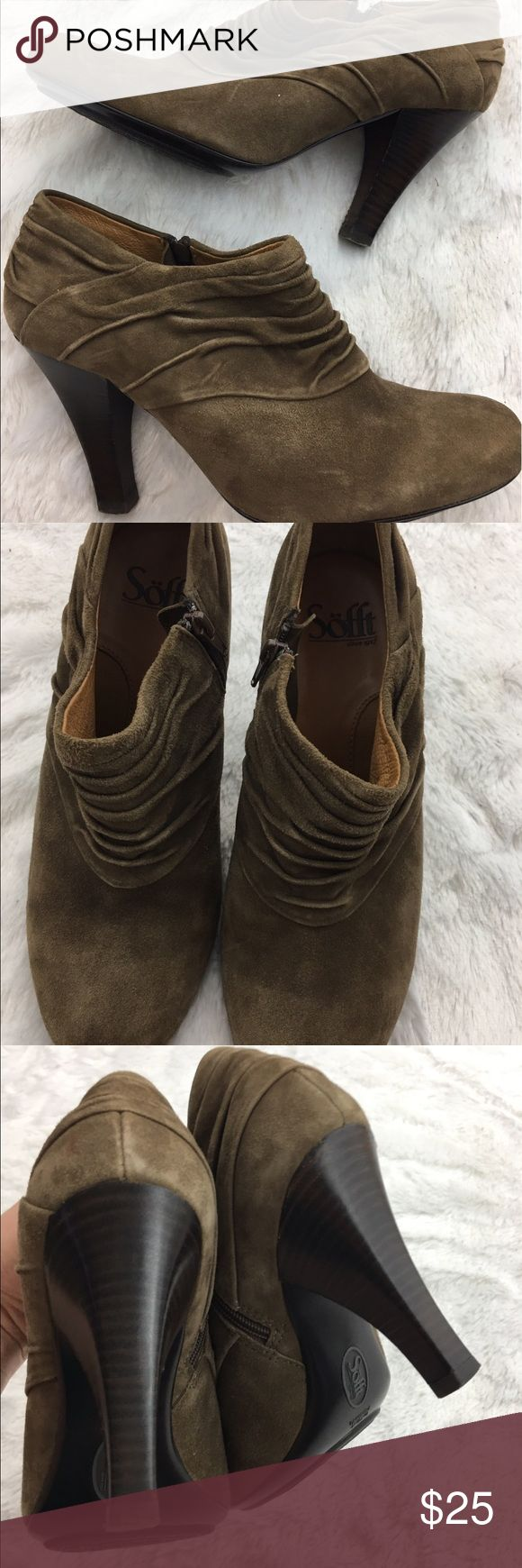 Sofft suede ankle booties Great condition Sofft Shoes