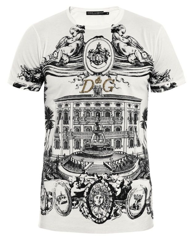 Dolce & Gabbana Sicily Building Embroidered T-Shirt