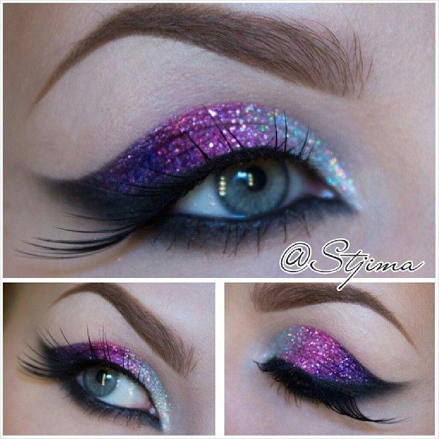 New years glitter eyes.  - @ stjima