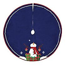 Holiday Collections Plush Icon Tree Skirt, 48-in