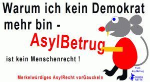 AsylBetrug Sticker, Button, Flyer, Handzettel, Protest, Revolution, Demonstration, wahre Worte, Befreiung, Freiheit, Europa, Deutschland
