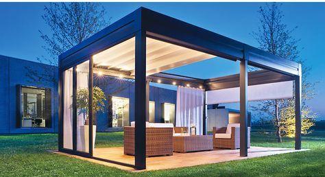 """Med detta system från Pratic kan du skapa fristående """"rum"""" i trädgården eller på en uteservering."""