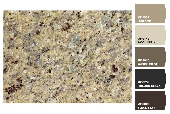 Paint colors by Sherwin-Williams/Granite is New Venetian Gold...I <3 Chip It!