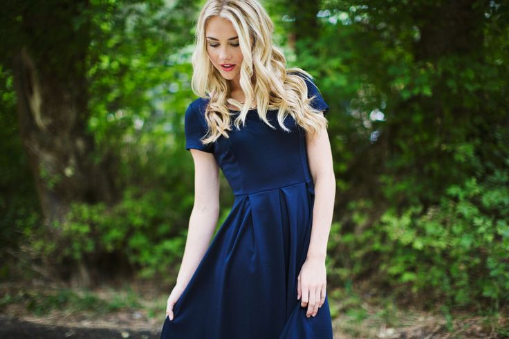 We love this pic of Ivy in navy blue... the forest is calling...