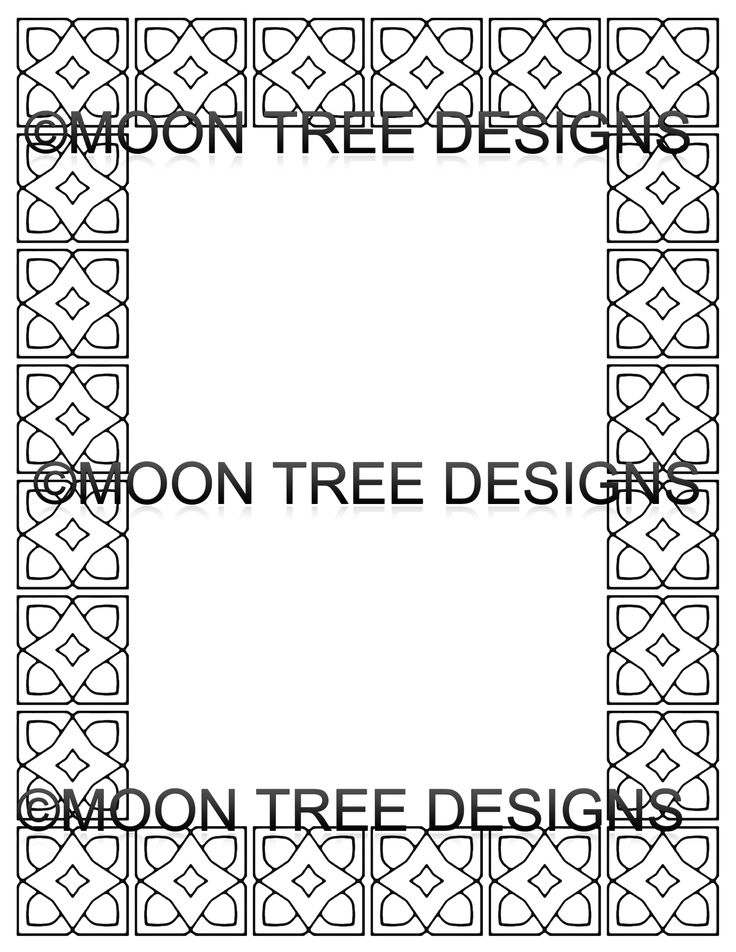 9 best Coloring Book Pages Stationery Geometric Borders