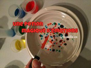 Potion magique colorée - Gribouille
