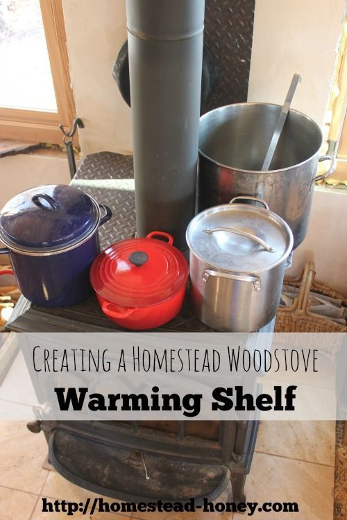 A Homestead Woodstove Warming Shelf
