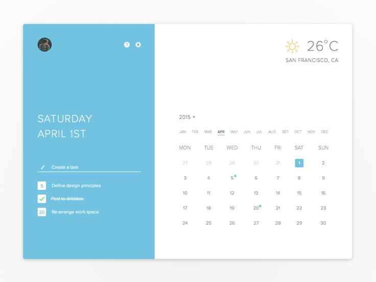 Really liked @Anton Reimertz's Calendar Widget from a while back, so I decided to do a quick rebound.