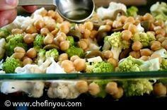 Roasted Romanesco Broccoli With Chickpeas & Olives  #recipe #vegan #glutenfree
