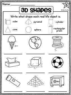 Best 25+ 3d shapes worksheets ideas on Pinterest | Geometry ...