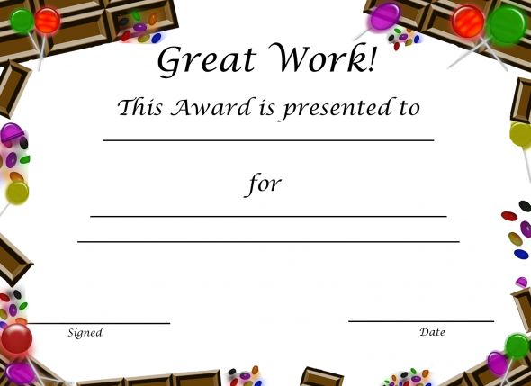 Sample Certificates For Kids Free Printable Award Certificate