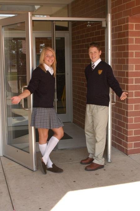 Black dress uniform shoes for catholic school