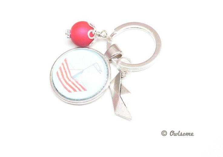 Schlüsselanhänger - Schlüsselanhänger ●Boot● Cabochon - ein Designerstück von…