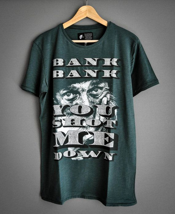 Bank Bank you shot me down by PlayShirts on Etsy #play_shirts #playshirts #tshirt #bank #anticapitalism #homeless #crisis #money #goldenboy