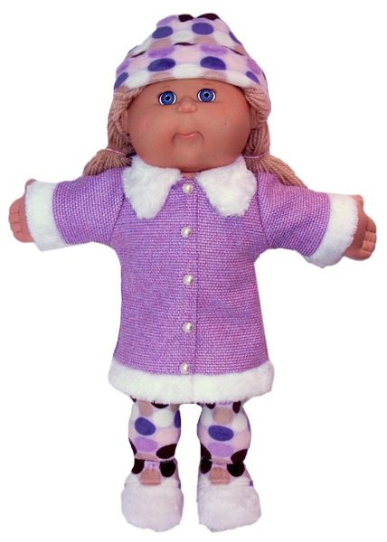 Dress this wonderful Fur Trimmed Jacket up with tights or wear with jeans for a more casual look!  This Cabbage Patch doll clothes PDF pattern comes with LIFETIME access to video instructions with Rosie showing you step-by-step how to create this wonderful outfit.