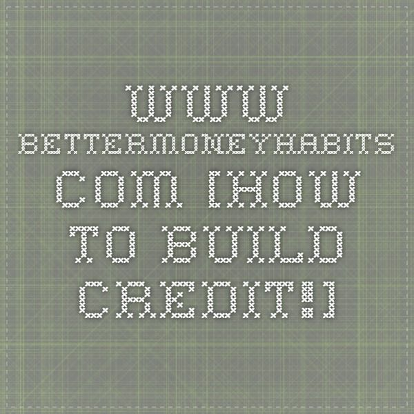 how to build credit as a student