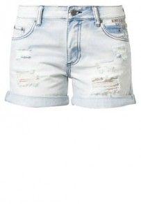 Minimum GIADA Szorty jeansowe niebieski
