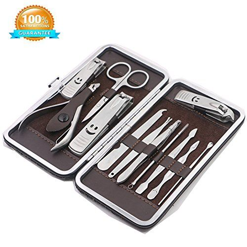 Beatuyls Premium Manicure, Pedicure Kit, Nail Clippers, Professional Grooming Kit, Nail Tools With Luxurious Travel Case, Set of 12. For product & price info go to:  https://beautyworld.today/products/beatuyls-premium-manicure-pedicure-kit-nail-clippers-professional-grooming-kit-nail-tools-with-luxurious-travel-case-set-of-12/