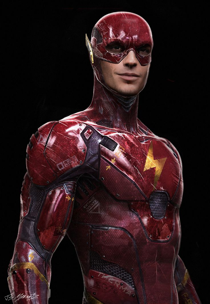 Flash concept art for BvS and Justice League by Jerad