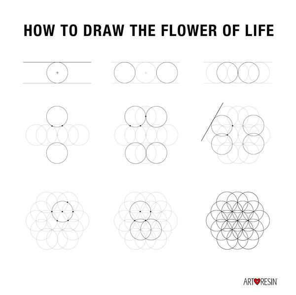 90 best art images on pinterest drawing techniques to for How to draw the flower of life step by step