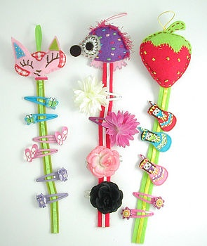 hairclip holder - need to make something like this for all Ivy Grace's hair clips!!! Why didn't I think of it sooner?!!
