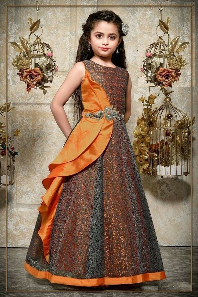 Girls Kids Gown Dress Indian Salwar Kameez Suit Party Wear Gowns Stitched- 98061…