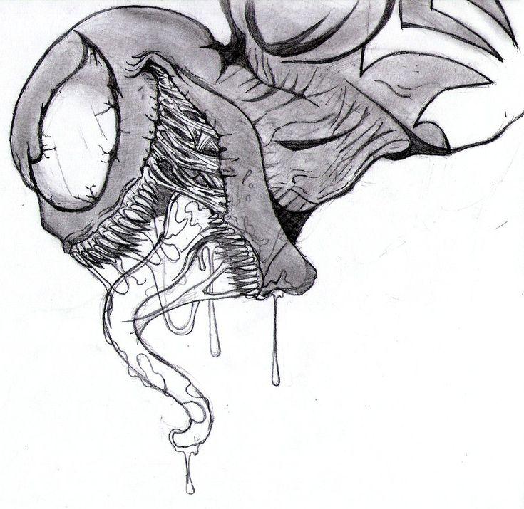 Venom Spiderman Drawing venom drawings ...
