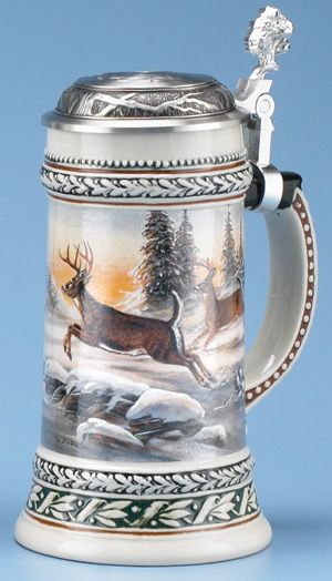 DEER STEIN - Authentic Beer Steins from Germany.  Umesh has one!