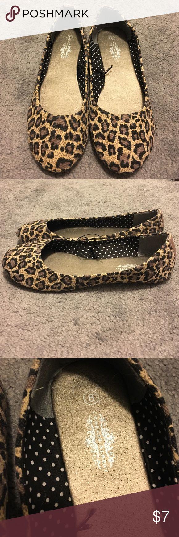 Leopard ballet flats Leopard print ballet flats. Never worn. Size 8 Charles Albert Shoes Flats & Loafers