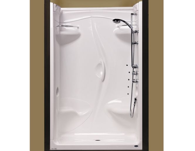 48 inch one piece shower stall