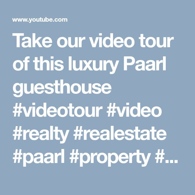 Take our video tour of this luxury Paarl guesthouse #videotour #video #realty #realestate #paarl #property #property24 #southafrica #realestatemarketing