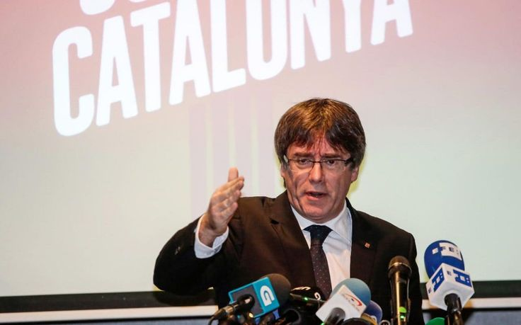 Ousted Catalan leader Carles Puigdemont has called for a Brexit-style vote on whether Catalonia should leave the European Union, deepening the breach with Brussels over its support for Spain against the independence movement.