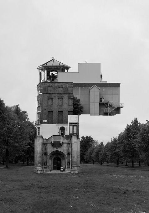 Южнокорейский художник Беомсик Вон (Beomsik Won) создает причудливые коллажи из архитектурных фотографий, которые называет Архискульптурами (Archisculpture).