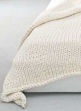 knitted bed throw
