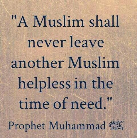 A muslim shall........
