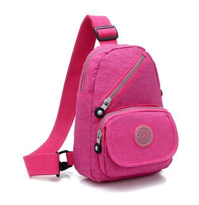 Fashion crinkle nylon women sling bag 20114 hot sell girls sling bag preppy style women travel sling bags free shipping $22.00