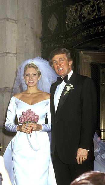 Marla Maples and Donald Trump during The Wedding of the Year Mr Trump Takes Another Gamble at Plaza Hotel in New York City New York United States