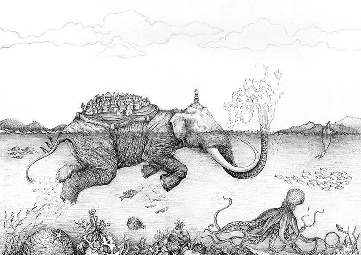 the elephant island via Webshop - Johanna Magoria. Click on the image to see more!