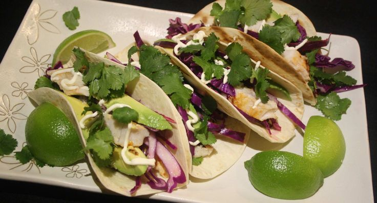 Fresh, zingy & healthy fish tacos with lime slaw | Low Cholesterol Living