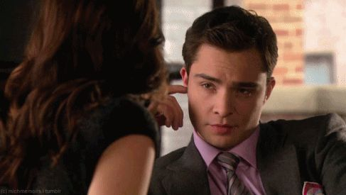 Love this picture and the article. More men should be like Chuck Bass. gif