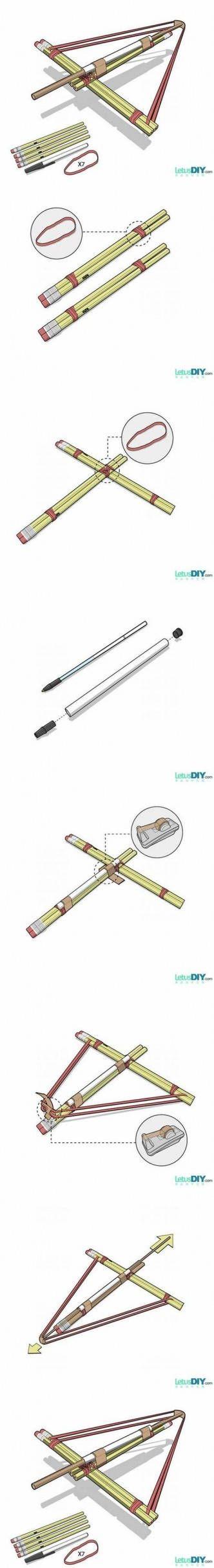 DIY Pencil Bows Internet Tutorial DIY Projects