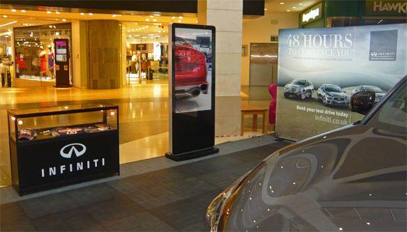 Digital signage displays from Ad-Digital offers luxury car brand Infiniti endless possibilities #digitalsignage #infiniti