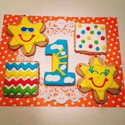 You are my sunshine birthday cookies!