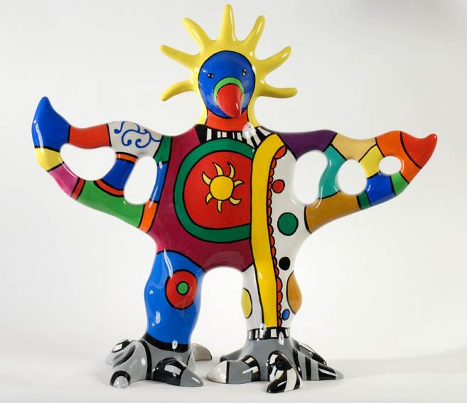 Niki de ST PHALLE Sun God Vase, 2001-2003 painted resin polyester sculpture