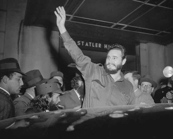 April 15,  1959: FIDEL CASTRO IN THE US  -    Cuban leader Fidel Castro arrives in Washington to begin a goodwill tour of the United States.